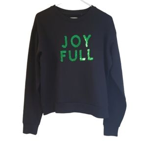 Cotton On Green Sequin Joy Full Holiday Sweater